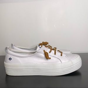 Sperry Top Sider White Women's Boat Shoe 9.5